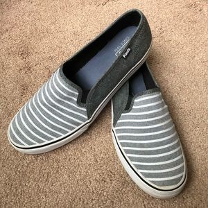 Keds striped slip-on sneakers